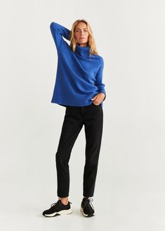 Discover the latest trends in Mango fashion, footwear and accessories. Shop the best outfits for this season at our online store. Mango Fashion, Wool Sweaters, Pulls, Cable Knit, Shirt Outfit, Jeans, Fashion Online, Ideias Fashion, Vestidos