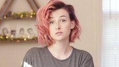tessa violet pink hair