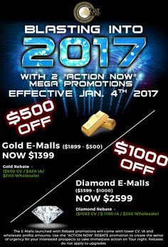 "HIT THE GROUND RUNNING IN 2017 with PHASE VI mega promotions and tools.  2 ""ACTION NOW"" mega promotions - effective immediately.  See poster, like, share, ACTION."