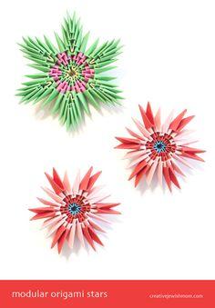 Origami Modular Stars Snowflakes