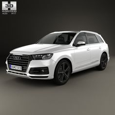 Audi Q7 e-tron 2017 3d model from humster3d.com. Price: $75
