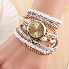 Hot Sale Geneva New Fashion Retro Leather Quartz Watch Women Dress Watches Weave Bracelet Watches Relogio Feminino Relojes Mujer