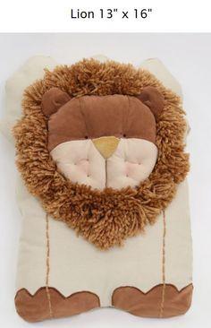 Lion Pillow  tinyhands@yahoo.com TinyHandsStoreEtsy