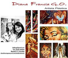 contacto Diana Francia Gomez Ordoñez Diana, Baseball Cards, Movie Posters, Artists, Expressionism, France, Exhibitions, Film Poster, Billboard