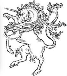 Unicorn - mythical animal typically represented as a horse with a single straight horn projecting from its forehead.