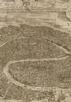 Jacopo de'Barbari. Detail from View of Venice, 1500.