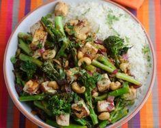 Levi Roots' Tenderstem, Cashew and Tofu Stir Fry Recipes. Stir Fry Recipes, Veggie Recipes, Vegetarian Recipes, Cooking Recipes, Healthy Recipes, Protein Recipes, Simple Recipes, Detox Recipes, Healthy Meals