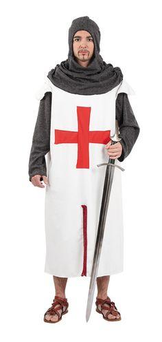 DisfracesMimo, disfraz de cruzado medieval hombre talla xl.Compra tu disfraz barato y te dará impulso para regresar al medievo. Ponte al frente de la quinta cruzada y participa con tus soldados en fiestas medievales.