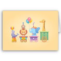 Kawaii Circus Train Card now available at casakawaii.com