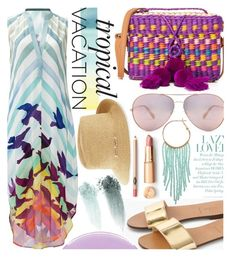 """""""Tropical Vacation"""" by maranella ❤ liked on Polyvore featuring J.Crew, Mara Hoffman, Nannacay, Humble Chic, Eric Javits and Smith & Cult"""