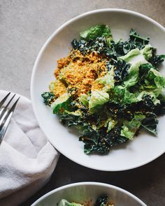 Kale-and-Brussels Sprout Caesar Salad