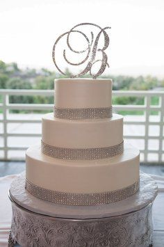 Umm I really liked the grape vine idea but this is hmmm will be considered. Swarovski Crystal Monogram Cake Topper $40