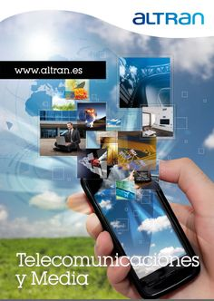Portada tríptico de la División de Telecomunicaciones y Media