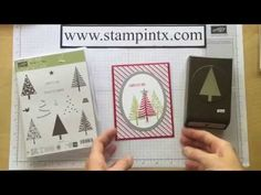 Christmas in July Card #2 - Festival of Trees - YouTube