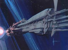 The Sulaco, concept art for the film Aliens | Syd Mead.
