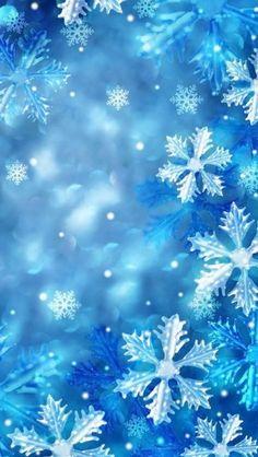 Blue Snowflakes #iphone #wallpaper