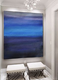 Large Abstract Painting Canvas Art Landscape by CelineZiangArt
