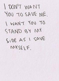 我會救我自己