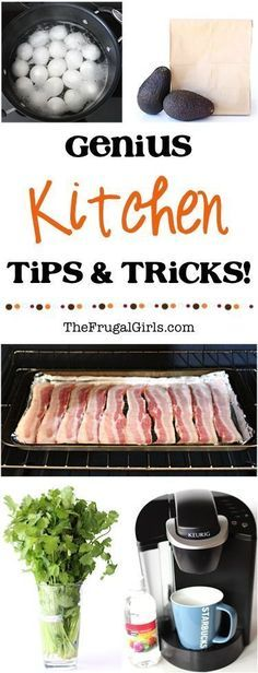 Genius Kitchen Tips and Tricks! ~ from TheFrugalGirls.com ~ look absolutely brilliant in the kitchen with these easy kitchen hacks!