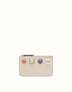 FENDI KEYRING POUCH - White leather pouch Leather Pouch, White Leather,  Fendi, Spring 79c5fdd40c