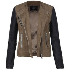 AllSaints Oracle Leather Biker Jacket ($498) ❤ liked on Polyvore