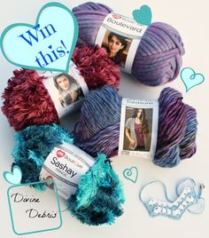 Enter to win a Red Heart Yarns giveaway on DivineDebris.com