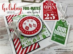 (7) New Holiday Foil-Mates by Gina K  Designs and Therm O Web - YouTube