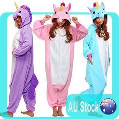New CUTE hot Unicornanimal pyjamas Costume animal Kigurumi