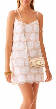 Dusk lace strappy shift dress