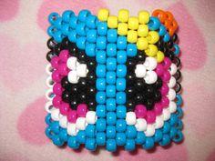 Super Cute Light Blue Rainbow Dash Eyes Cuff by CuteKandiCreations on Etsy, $7.95 Look at these cute doe eyes! D'aww :3 #mlp #mylittlepony #kandi #kandicuff #kandy #rave #raver #rainbowdash #rainbow #kawaii #cute