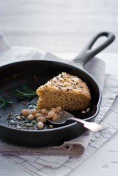 GF Honey Hazelnut Cornbread, braised beans and carrot and pasnip soup.... mmmm perfect winter food....