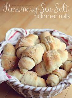 Easy to make: Rosemary Sea Salt Dinner Rolls