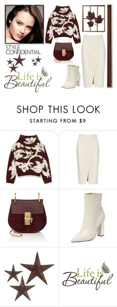 """""""Untitled #1458"""" by jothomas ❤ liked on Polyvore featuring Brunello Cucinelli, Acne Studios, Chloé, Aperlaï, jcp and Brewster Home Fashions"""