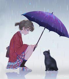 Photo by achi416: anime sad cat girl