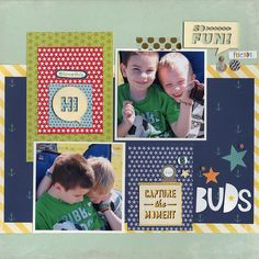 Made with April Showers - The April Kit Club kit from Scrapbook.com. Buds - Scrapbook.com