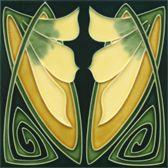 jugendstilfliese | golem baukeramik