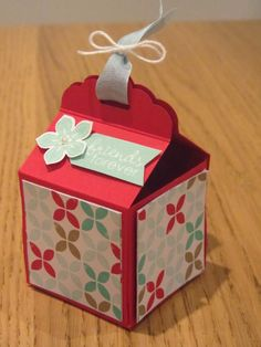 Stampin Up Tag Topper box