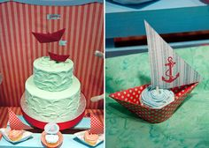 great cupcake details for a nautical party