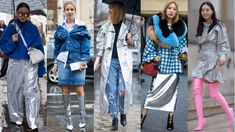 Stylish silver. Photos from left to right: Chiara Marina Grioni/Fashionista (2), Moeez/Fashionista, Chiara Marina Grioni/Fashionista, Moeez/Fashionista