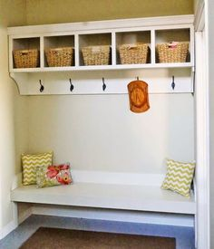 Ana White | Large Custom Mudroom Organizer with Cubbies and Hooks - DIY Projects