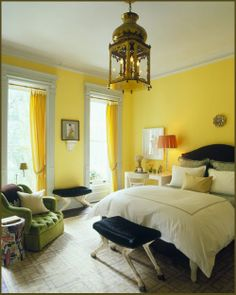 catchy yellow teenage girls bedroom paint color idea with yellow