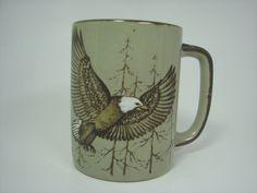 Flying Eagle Otagiri Stoneware Mug Handpainted. $12.00, via Etsy.