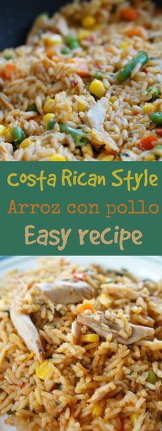 costa rican style arroz con pollo easy recipe pinnable
