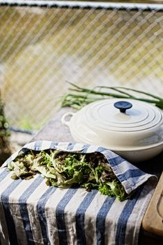 Le Creuset in white