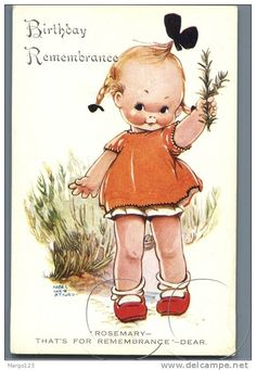 Mabel Lucie Attwell vintage card Inspiration for rosemary