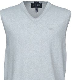 ARMANI JEANS Sweaters by Armani Jeans  ARMANI JEANS Sweaters. knitted lightweight sweater solid color v-neckline sleeveless no pockets logo. 80% Cotton 20% Wool