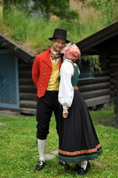 Folk Clothing, Swedish Design, Scandinavian Style, Norway, Weaving, Embroidery, Dresses, Places, Vestidos