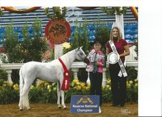Colbie with Vanity Grove Farms White Satin N Lace  in the Mare Class at 2012 Nationals