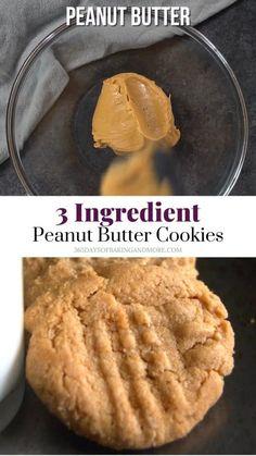 Peanut Butter Cookies 3 Ingredient Recipe, Homemade Peanut Butter Cookies, Peanut Butter Recipes, Sugar Cookies Recipe, Peanutbutter Cookies Easy, Peanut Better Cookies, Easy Snickerdoodle Cookies, Peanut Cookie Recipe, Dessert