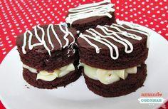 Brownie recheado com brigadeiro branco - Amando Cozinhar - Receitas, dicas de culinária, decoração e muito mais!